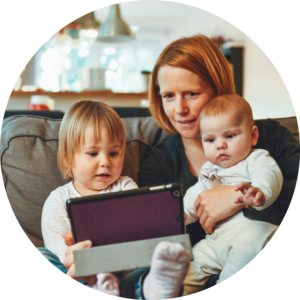 Work from home parent_circle